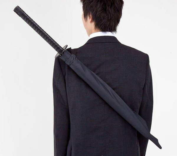 Samurai Umbrella back