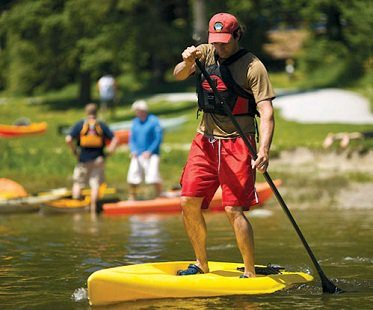 Stand-Up-Sit-On Paddle Board