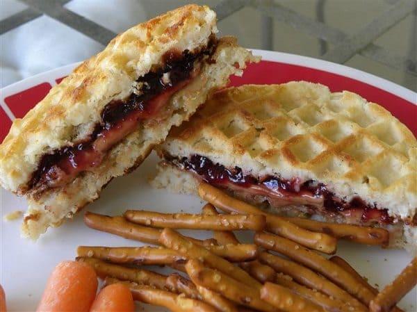 Swap sandwich bread with waffles for breakfast