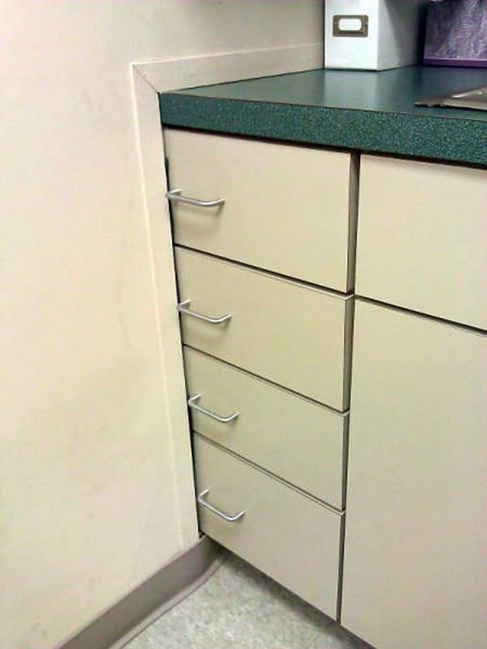 The guy who just made these drawers unusable