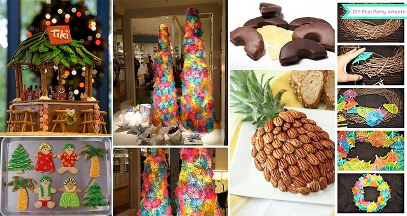 tropical christmas party ideas