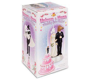 Unicorn and Horse Wedding Cake Topper box