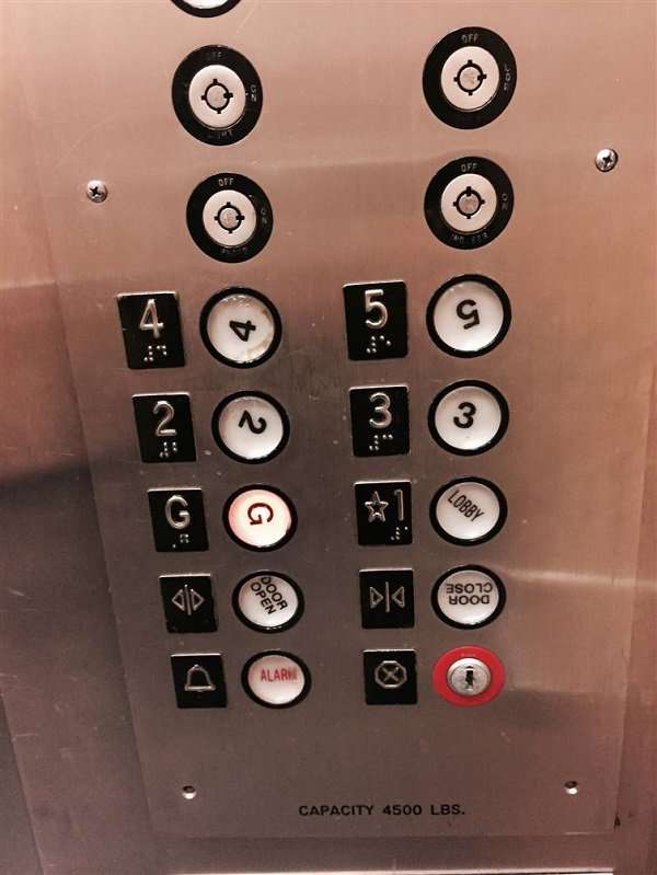 When only one thing in the elevator lines up