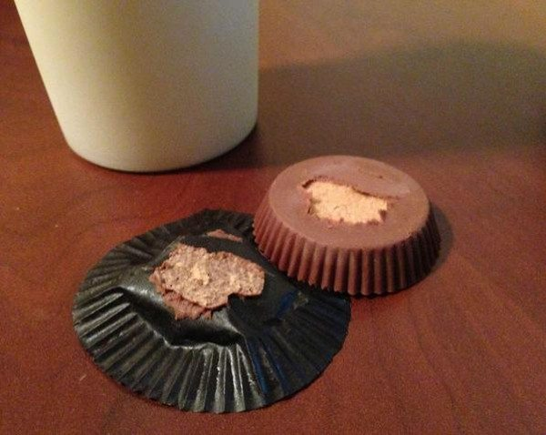 When your Reeses Peanut Butter Cup does this