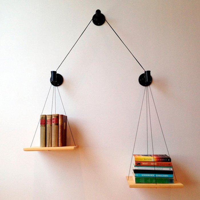 a balance bookshelf