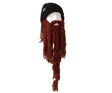 barbarian beard hat brown