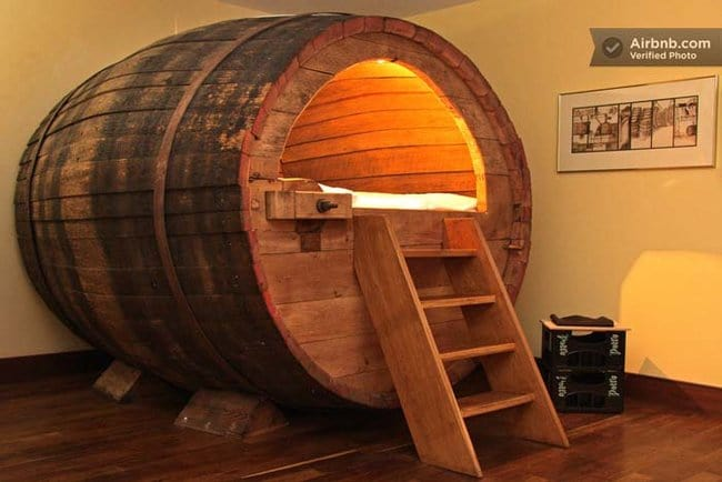 barrel-bed