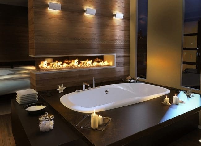 bath-tub-firplace