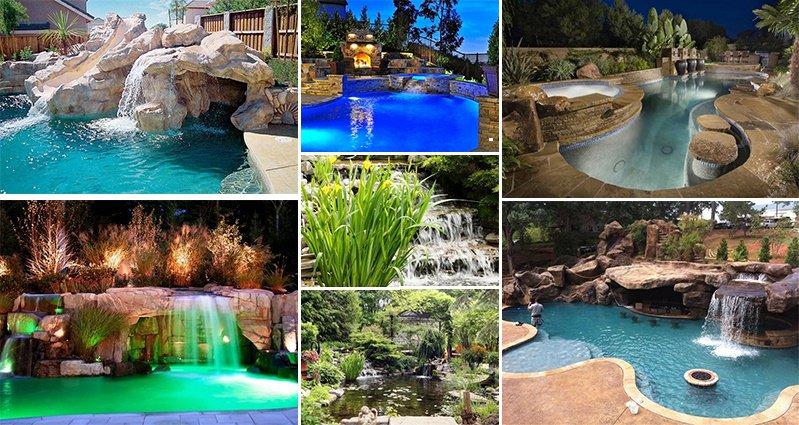 Garden Pool Backyard Yards