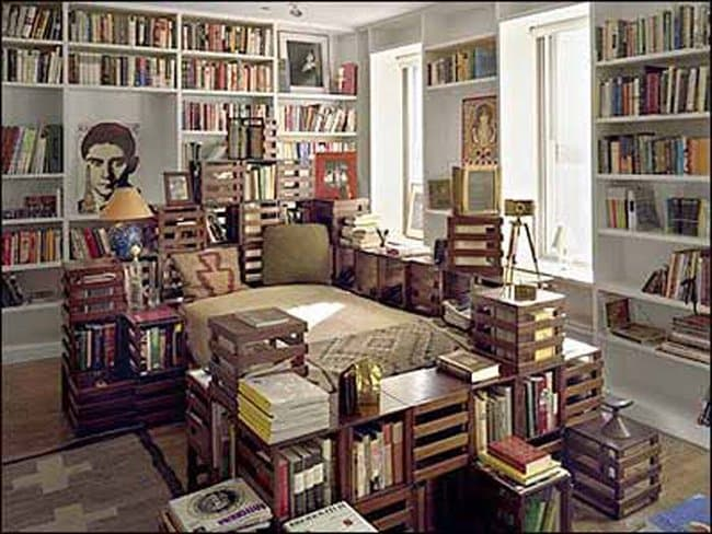 bedroom-library