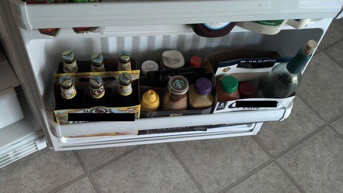 beer containers fridge