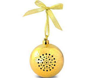 bluetooth speaker christmas ornament gold