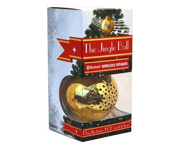 bluetooth speaker christmas ornament gold box