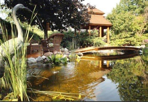 bridge gazebo water yard