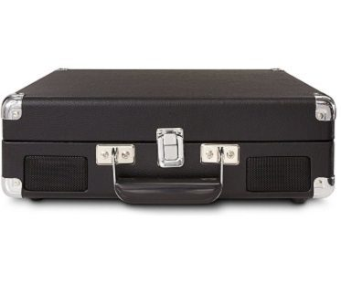 briefcase record player closed