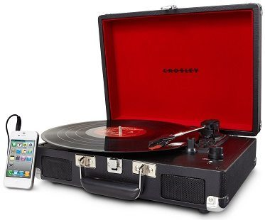 briefcase record player iPhone