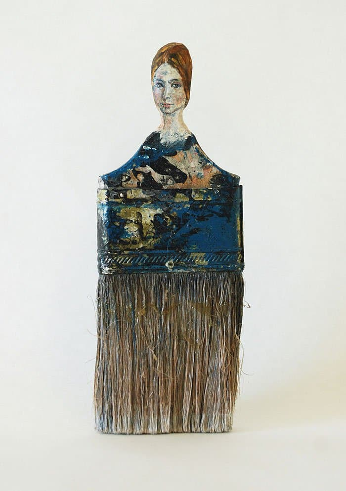 brown paintbrush lady rebecca szeto