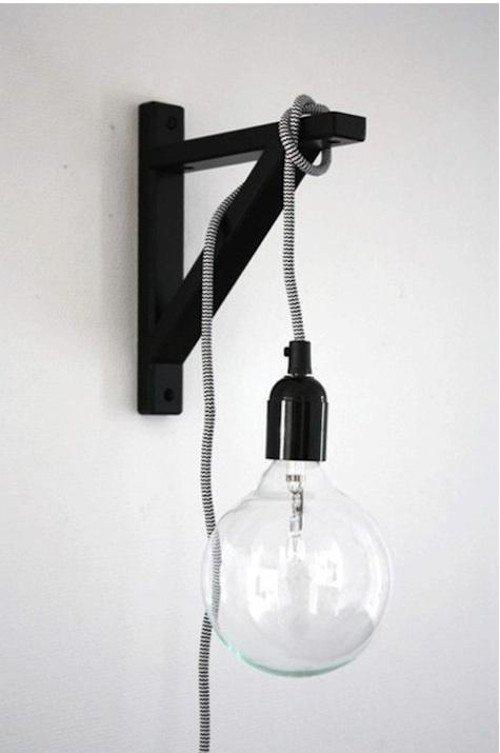 bulb hung on bracket minmalist