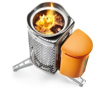 campstove with usb charger wood burner