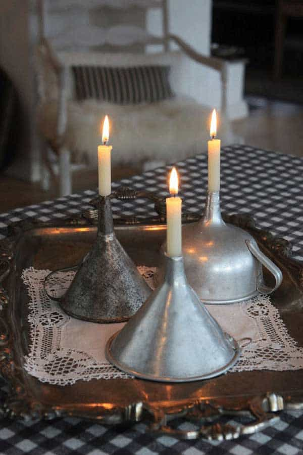 candle funnels