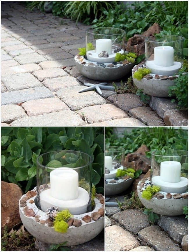 cement-candle-holders