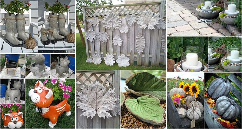 15 creative cement projects for the garden