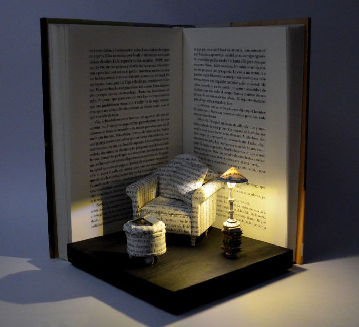 chair book art