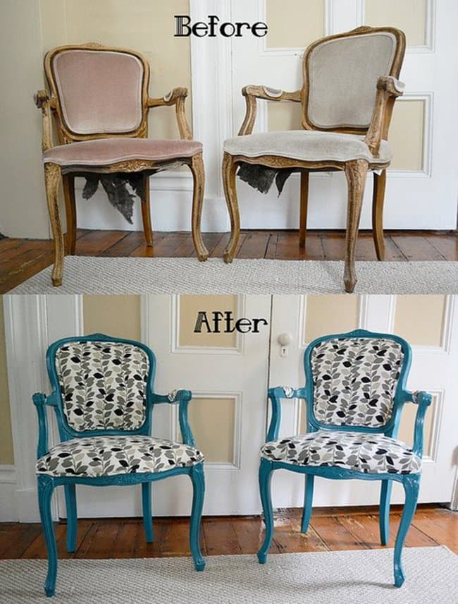 15 Great Ideas To Give Old Chairs A Stylish Makeover : chair makeover leaves from www.awesomeinventions.com size 650 x 856 jpeg 348kB