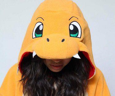 charmander onesie hood