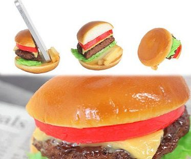 cheese burger phone stand side