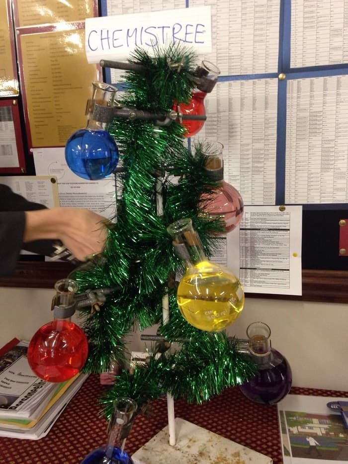 chemistry teacher christmas tree