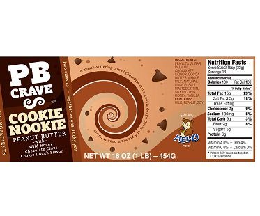 chocolate chip cookie peanut butter label