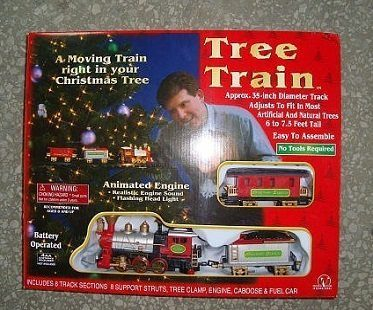 christmas tree train box