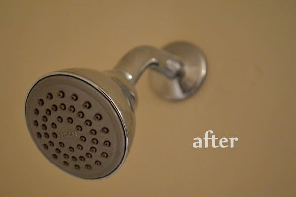 clean a shower head