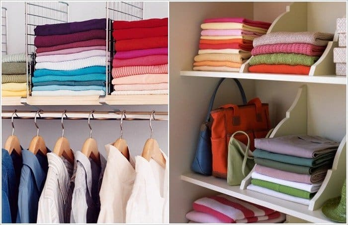 clothes folded shelf dividers