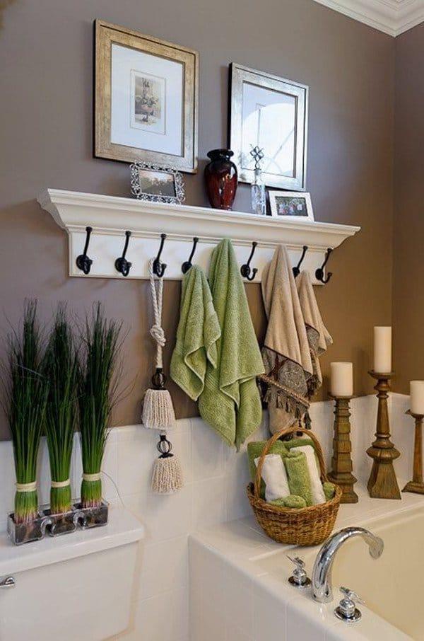 coat hooks towel storage