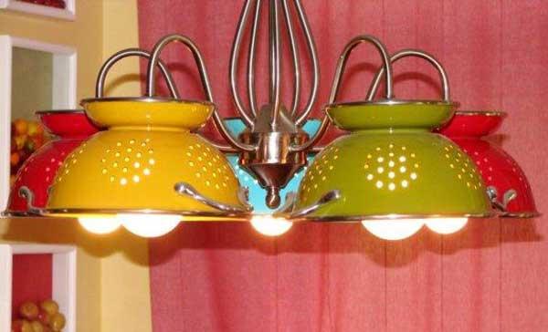 colander pendant lights