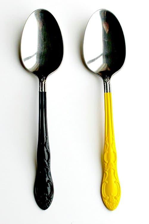 contemporary colorful silverware