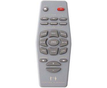 control a woman remote control plain