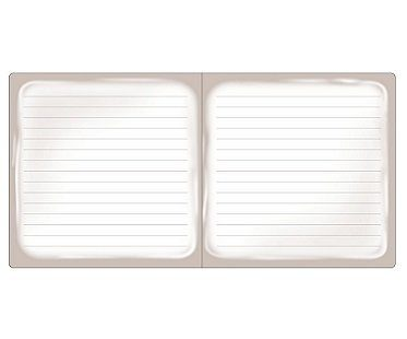 cream cookie notebook inside