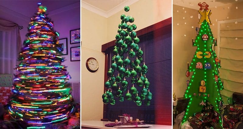 18 of the most creative christmas tree ideas Creative christmas trees to make