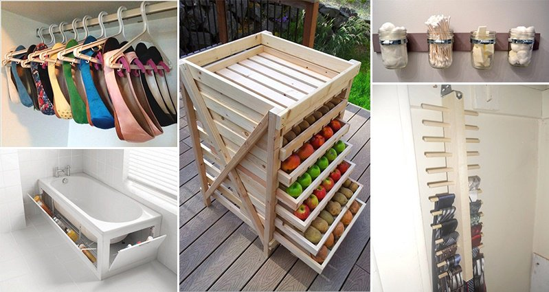 18 creative storage ideas you can do yourself for Unusual storage ideas