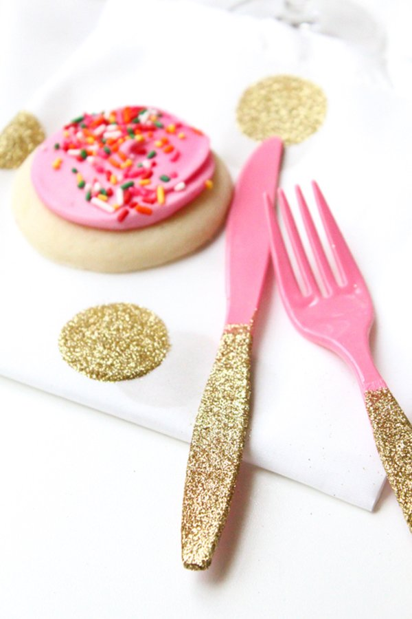 cutlery-glitter