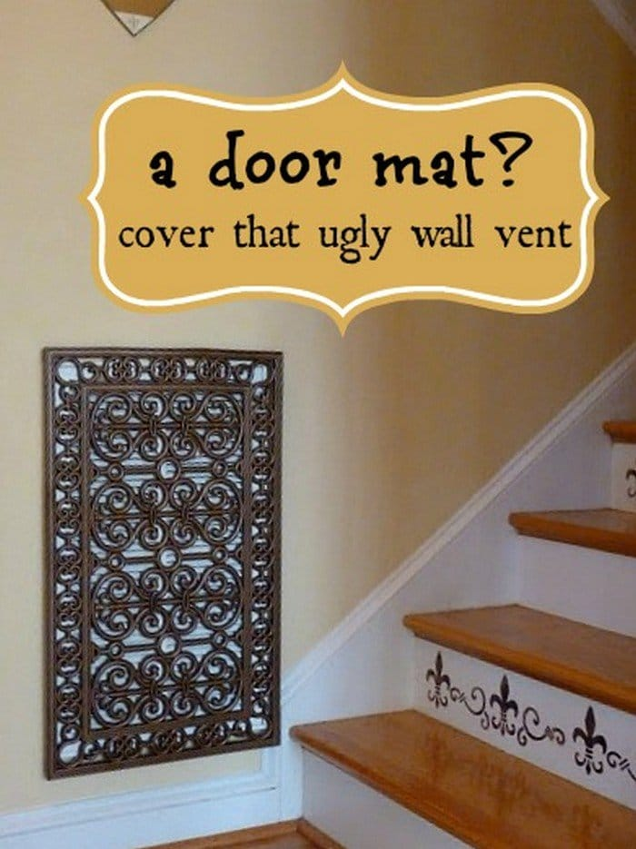 door mat wall vent