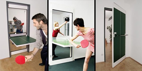 door ping pong table