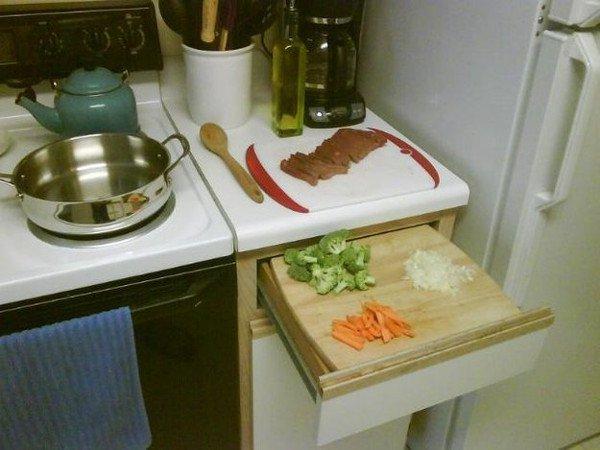 drawer cutting board