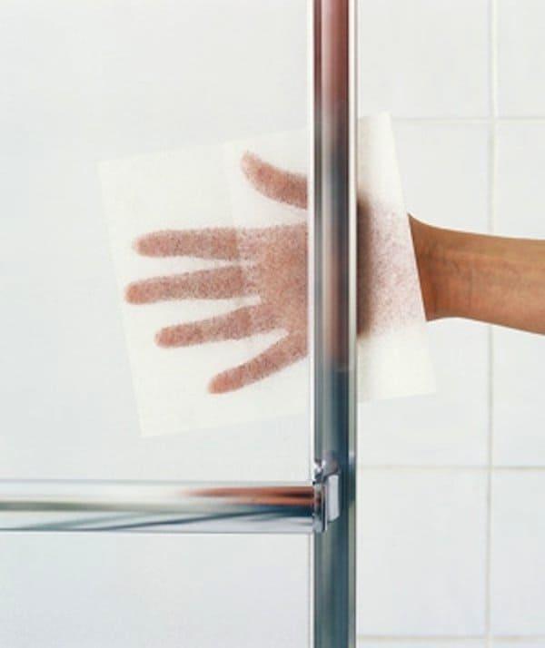 dryer sheets remove glass buildup