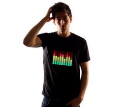 equalizer sound reactive t-shirt