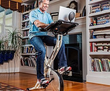 exercise bike desk