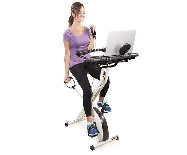 exercise bike desk arms